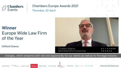 Clifford Chance élu « France Law Firm of the Year » lors des Chambers Europe Awards 2021